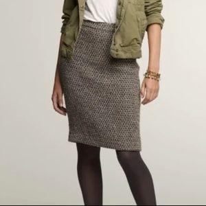 J. Crew Timber Tweed Pencil Skirt 6